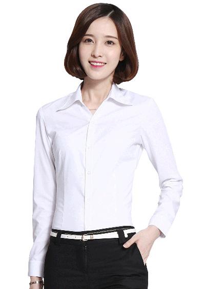 办公室女士长袖衬衫工作服