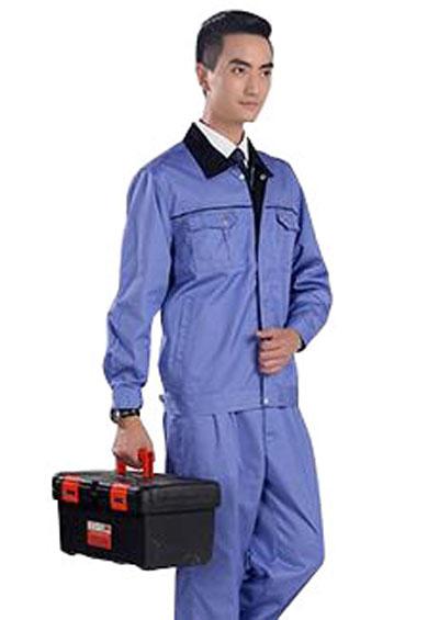 纯棉长袖工作服套装男