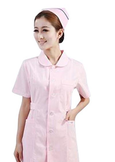 夏天粉红色护士服短袖