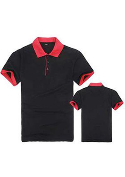 男士休闲短袖T恤男装 黑红