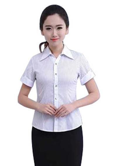 职业装短袖衬衫女修身收腰